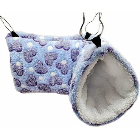 Tunnel suspendu pour petits animaux Hamster jouets suspendus en sucre, balançoire pour hamac et hamac - Accessoires de literie pour Chinchilla furet, écureuil