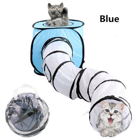 """main image of """"Tunnels de jeu de chat pliable en forme de T pour animaux de compagnie"""""""