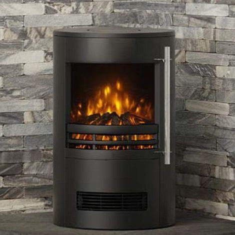 TUNSTALL 2 kw Log Effect Freestanding Electric Fire Black