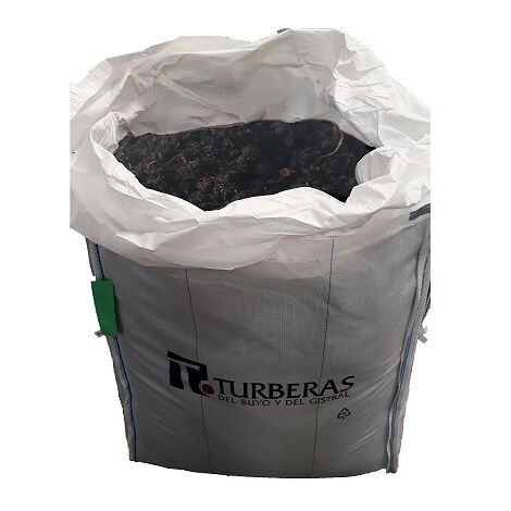 TURBA NEGRA Orgánica FLORICAT. Turba de primera calidad ideal para Enraizamiento, la Recuperación y Enriquecimiento de Suelos BIG BAG - 2m3