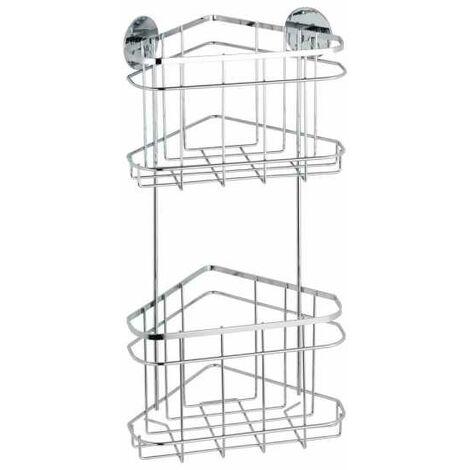 Turbo-Loc® Stainless Steel 2-tier corner rack WENKO