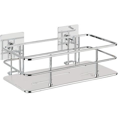 Turbo-Loc® stainless steel wall shelf Quadro WENKO