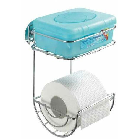Turbo-Loc® toilet roll holder with tray WENKO