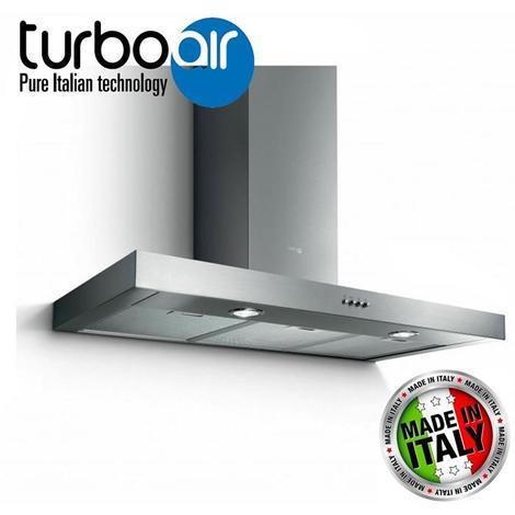 TurboAir Cappa Cucina Filtrante Elica SOFIA H6 IX/A/90 cm Aspirante Acciaio  Inox Satinato