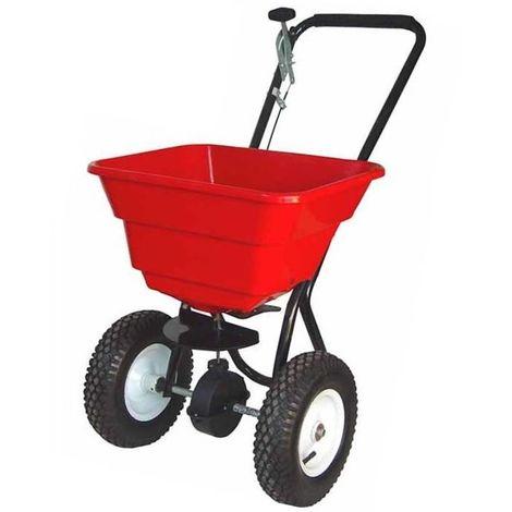 Turfmaster épandeur rotatif à pousser 36 kg pour compost, graines et sel de déneigement
