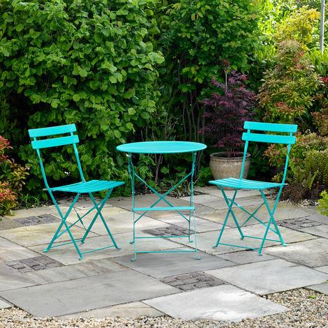 Turquoise Bistro Set
