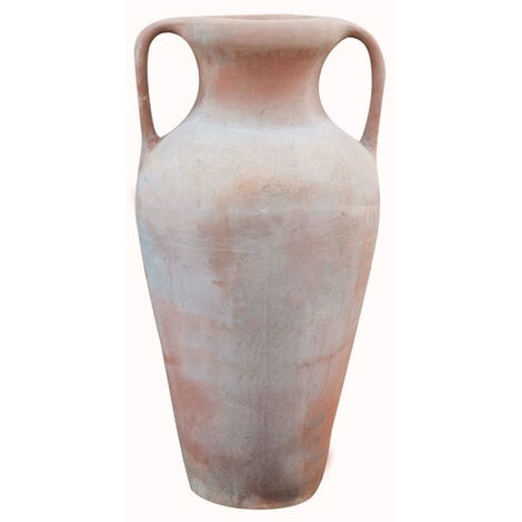 Tuscan terracotta made W40xDP30xH73 cm sized aged Roman amphora