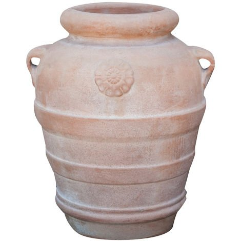 Tuscan terracotta made W45xDP40xH50 cm sized Tuscan aged jar