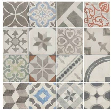 Tuscania serie Carociment Mix Gres Porcellanato Smaltato 20x20