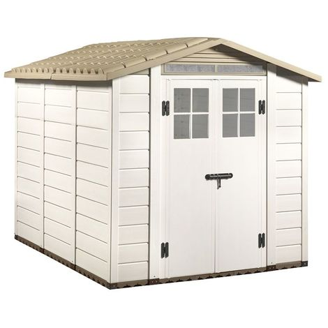 "Tuscany Evo 6'6"" x 8' 240 Apex Plastic Shed Double Door with Two Perspex Windows"""