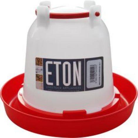 Tusk Eton Plastic Poultry Drinker (1.5L) (White/Red)