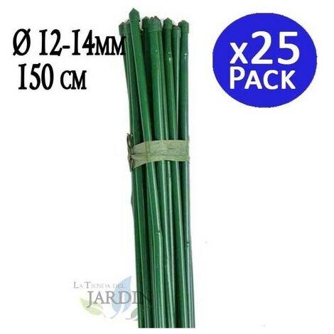 Tutor Bambou plastifié 150 cm, diamètre 12-14 mm.