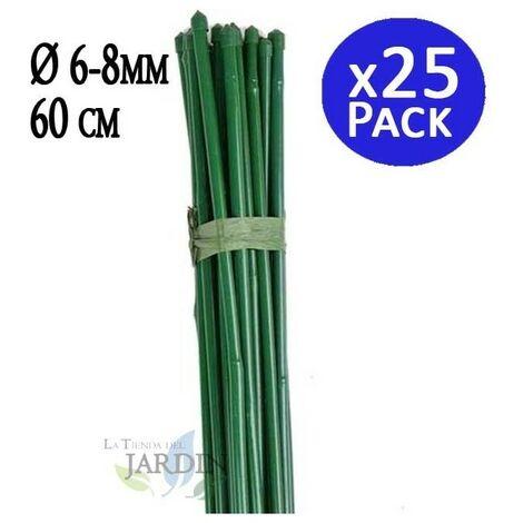 Tutor Bambou plastifié 60 cm, diamètre 6-8 mm.