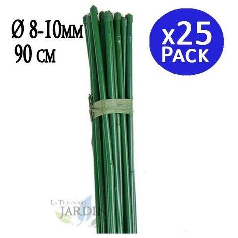 Tutor Bambou plastifié 90 cm, diamètre 8-10 mm.