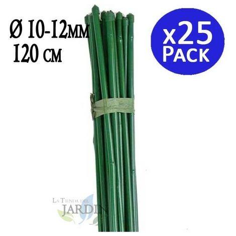 Tutor Bambú plastificado 120 cm, 10-12 mm diámetro. 25 unidades
