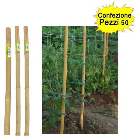 "main image of ""Tutori in bamboo pesante 50 pezzi 22-24 mm x altezza 150 cm pareti divisorie pali pomodori"""