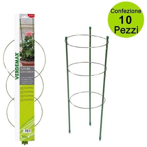 """main image of """"Tutori per piante rampicanti gerani ad anello con recinzione cerchi 45 cm confezione 10 pz"""""""