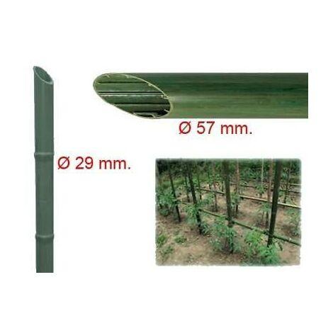 """main image of """"Cannetta in plastica riciclata effetto bambù tutore per giardinaggio ed agricoltura"""""""