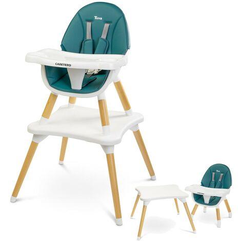 """main image of """"TUVA Chaise haute évolutive en table et chaise Vert - Vert"""""""