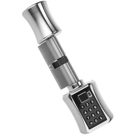 Tuya Bluetooth elegante e pratico antifurto porta di sicurezza serratura a cilindro nucleo originario modo di sblocco: APP (Tuya) / Bluetooth / Fingerprint / password / Modello chiave: C001D-35/35 (versione Graffiti)
