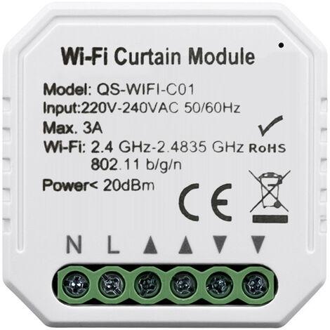 Tuya inteligente Vida WiFi cortina del modulo de conmutador, para persiana enrollable