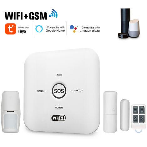 Tuya inteligente WIFI GSM Seguridad para el Hogar sistema de alarma, control remoto del PIR