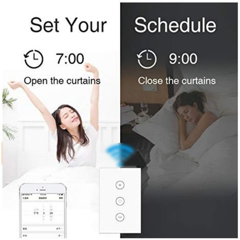 """main image of """"Tuya Vie Intelligente Wifi Rideau Module Commutateur Pour Volet Roulant Electrique Du Moteur Compatible Avec Alexa Accueil Google"""""""