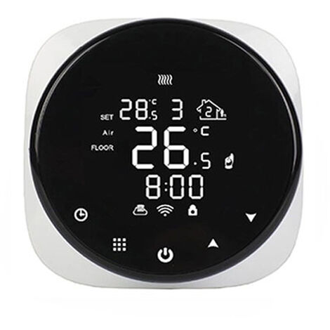 Tuya Wifi Circulaire Chauffage Eau Chaudiere Thermostat Systeme Sol Ronde Numerique Programmable Thermostat Intelligent, Chauffage Au Sol Electrique