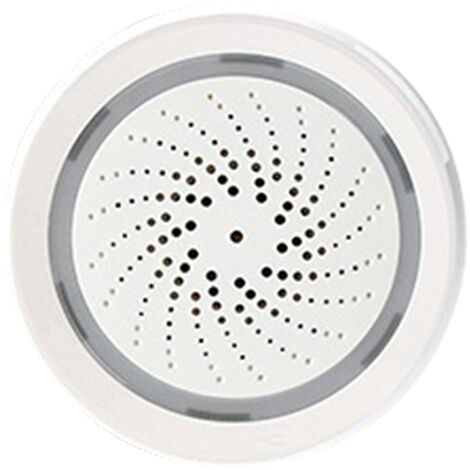 Tuya Wifi Intelligent Sirene D'Alarme Sonore Temperature Capteur D'Humidite App Home Control Sans Fil Securise Systeme Wifi Usb Commande Vocale
