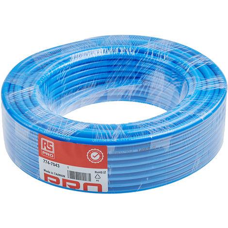 Tuyau à air RS PRO, 30m Bleu, en Polyuréthane, Diam.ext 8mm
