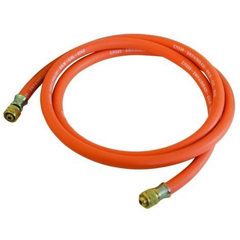 Tuyau à gaz avec connecteurs - 2 m