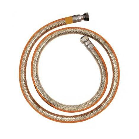 Tuyau à gaz inox haute qualité 150 cm - sans date limite - butane et propane