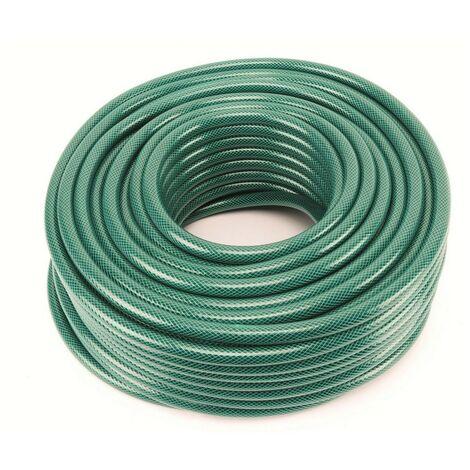 Tuyau arrosage 50 m diam 14 MM -1/2 PVC souple KZ GARDEN 6 bar Vert