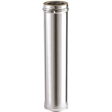 Tuyau avec double paroi isolée - longueur 1000 mm / Utile 940 mm INOX - Diamètre intérieur 200 mm