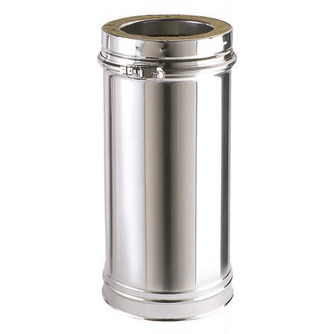 Tuyau avec double paroi isolée - longueur 500 mm / Utile 440 mm DPI INOX - Diamètre intérieur 153 mm