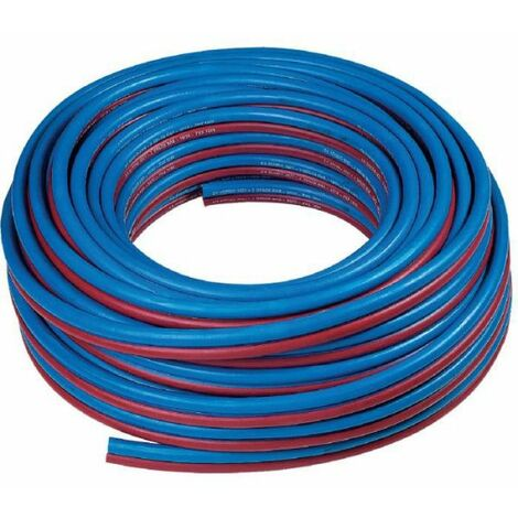 Tuyau caoutchouc bleu - rouge (oxygène - acétylène) - GCE