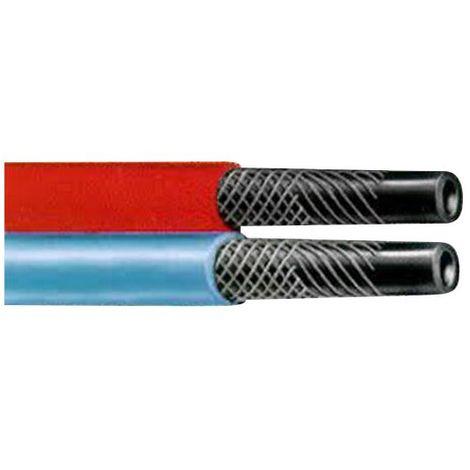Tuyau caoutchouc bleu-rouge pour oxygene-acétylene O10, le metre