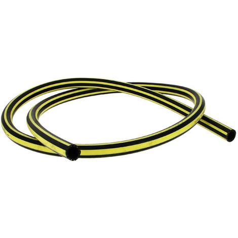 Tuyau caoutchouc jaune et noir refoulement O15, le metre