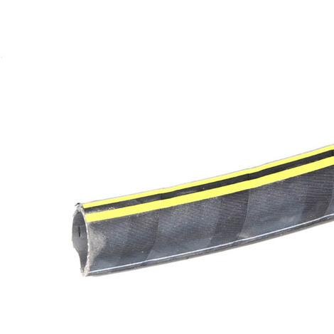 Tuyau caoutchouc jaune et noir refoulement O30, le metre