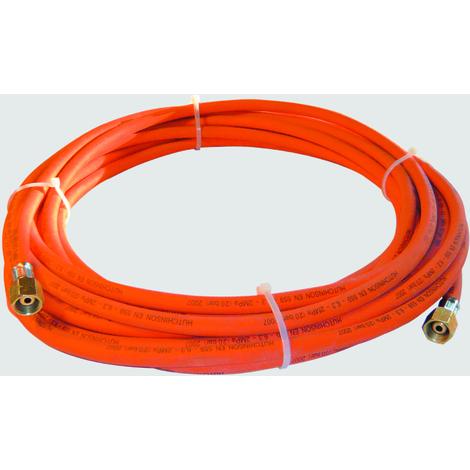 Tuyau caoutchouc L 10 m - Ø int. 6.3 mm, NF EN ISO 3821 monté avec raccords