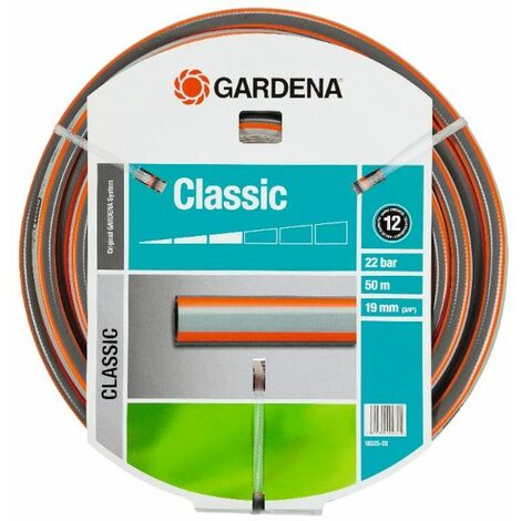 Tuyau darrosage 1/2 pouces GARDENA 18001-20 18 m gris, orange