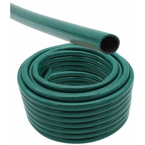 Tuyau d'arrosage 25 mètres - 2 différents diamètres disponibles - Vert - Linxor