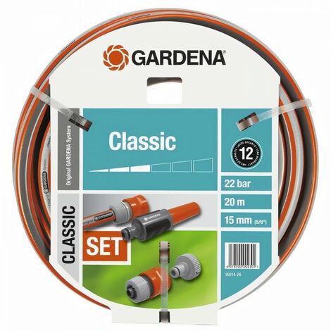 Tuyau d'arrosage classic GARDENA avec accessoires - diamètre 15mm - 20m 18014-26