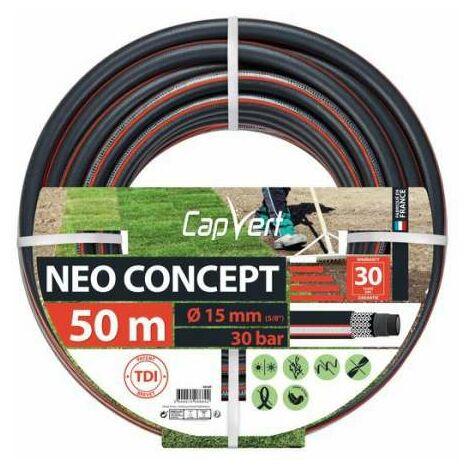 Tuyau d'arrosage Néo Concept Diamètre 15 mm - Longueur 50 m - Cap Vert