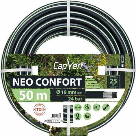 Tuyau d'arrosage Néo Confort Diamètre 19 mm - Longueur 50 m - Cap Vert
