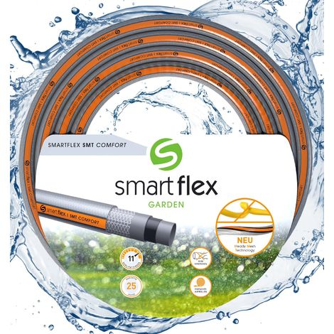 """Tuyau d'arrosage SMARTFLEX SMT Comfort Multicouche 25m Ø13mm (1/2"""") 14 bars Robuste Anti torsion"""