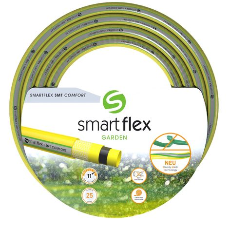 """Tuyau d'arrosage SMARTFLEX SMT Comfort Multicouche 25m Ø19mm (3/4"""") 9 bars Robuste Anti torsion"""