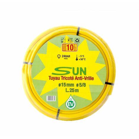 Tuyau d'arrosage SUN anti-vrille 15 x 25 M