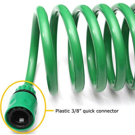 Tuyau d'arrosage télescopique extensible en spirale Tuyau EVA 30m laiton Tube Fittings Connecteur pour jardin Nettoyage Patio