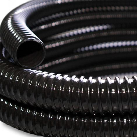 """Tuyau d'aspiration 0.5m 25mm (1"""") Spirale renforcement annelé Eau"""